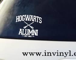 hogwarts alumni bumper sticker hogwarts sticker etsy