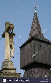 Wooden Roof Finials by View Of The Old Wooden Bell Tower Of The Roman Catholic Church
