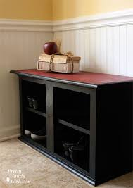 Turn Kitchen Cabinets Into Shoe Storage Bench Perfect For The