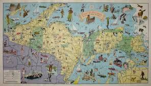 peninsula michigan map george glazer gallery antique maps land of hiawatha