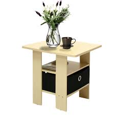 Night Stand Tables by Petite End Table Bedroom Night Stand With Foldable Bin Drawer