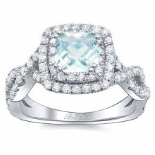 twisted band engagement ring cushion aquamarine halo engagement ring with twisted band