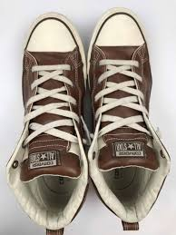 converse on sale mens leather converse high tops size 13 brown all