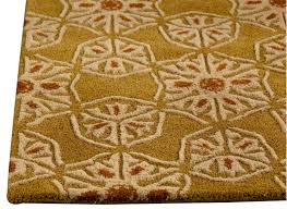 Wool Area Rugs Normandie Collection Tufted Wool Area Rug In Gold Design By