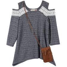 girls cold shoulder kids tops clothing kohl u0027s