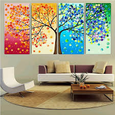 Home Decor Ebay Diy Handmade Colorful Season Tree Counted Cross Stitch Embroidery