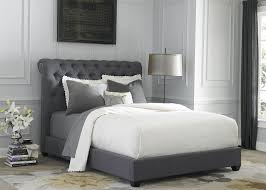 King Bed Frame Upholstered Gray Upholstered King Sleigh Bed From Liberty 250 Br22hu 150