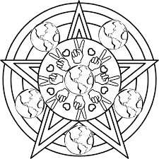 earth day mandala coloring page within wiccan coloring pages