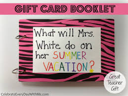 gift card book gift card booklet celebrate every day with me
