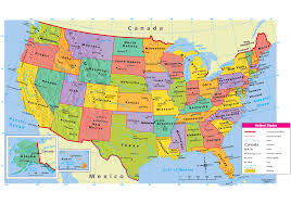 Interactive Map Of Usa by Usa Map Political My Blog