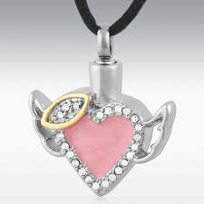cremation pendants cremation pendant angel wings cremation jewellery urn cremation
