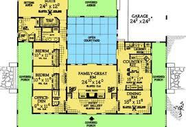 U Shaped House Plans With Courtyard U Shaped House With Pool Plans House Design Plans