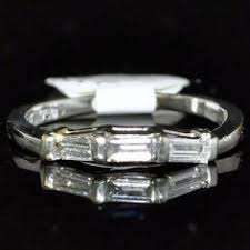 and baguette contour wedding band in platinum brilliant cut wedding band enhancer 1 10ct t w wedding