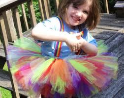 Rainbow Halloween Costume Clown Tutu Etsy