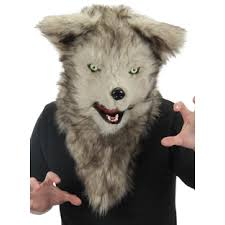 halloween costume with mask mouth mover mask wolf furry wolf mask elope cosplay