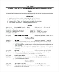 Server Duties On Resume 79 Appealing Free Sample Resume Templates Server Resume Examples