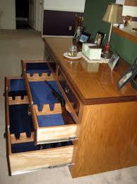Wall Mounted Gun Safe Use An Old Dresser For A Homemade Gun Cabinet No One Would Ever