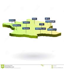 Map Of France Cities by France Map And Cities Stock Photography Image 15975402
