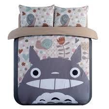 King Size Duvet Cover Set Aliexpress Com Buy Japanese Anime Lucky Cat My Neighbor Totoro
