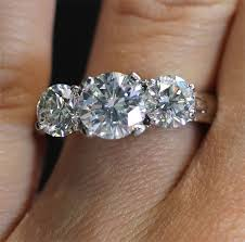 brilliant diamond rings images Platinum three stone round brilliant diamond engagement ring with jpg