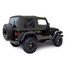 jeep soft top open sierra offroad jeep wrangler tj soft top 2003 06 in khaki