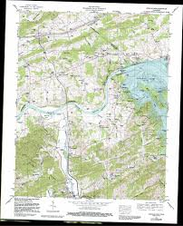 Tennessee Map Us by Douglas Dam Topographic Map Tn Usgs Topo Quad 35083h5