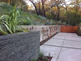 seattle retaining wall ideas landscape contemporary with planting