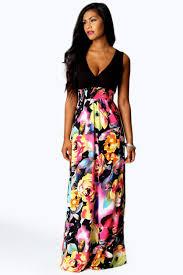 petite kiera rose print maxi dress boohoo