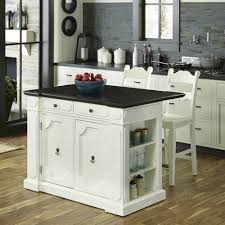 fiesta wood top kitchen island with 2 stools homestyles