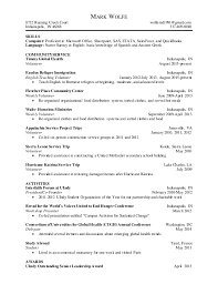 Two Page Resume Two Page Resume Mark Wolfe