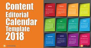 2018 content marketing trends predictions editorial calendar