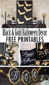 black u0026 gold halloween free printable lillian hope designs