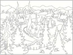 100 ideas winter scene coloring page on gerardduchemann com