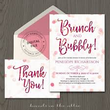 bridal shower invitations brunch brunch and bubbly invitation template printable stationery