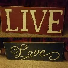 Live Love Laugh Home Decor Hand Crafted Rustic Distressed Primitive Large Live Dream Love