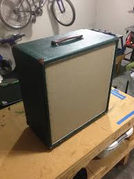 bass cab build british levant green tolex mojotone british