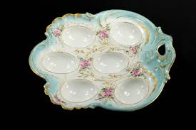 egg plate theo haviland limoges deviled egg plate or tray chromatic wit
