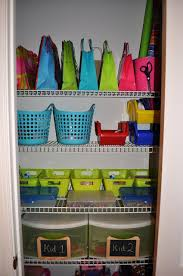 Craft Room Closet Organization - the collected interior a craft closet organized