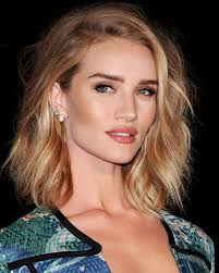 rosie huntington side parted lob mane addicts rosie huntington whiteley christian wood lob mane
