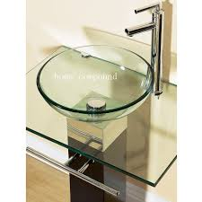 Decorative Bathroom Vanities by Bathroom Vanities Pedestal Glass Bowl Vessel Sink Combo W Faucet