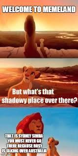 Sydney Meme - simba shadowy place meme imgflip