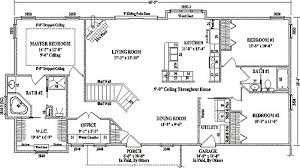 free house plans with basements ranch style floor plans plan 46022hc craftsman home with master