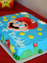 mario cake mario brothers party happy birthday kallen in the
