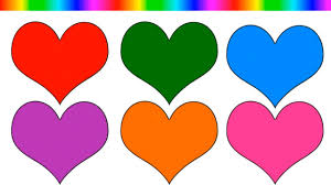 learn colors for kids and color many hearts learning colors with