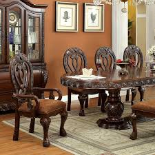 wyndmere cherry formal dining table set with 2 leaves