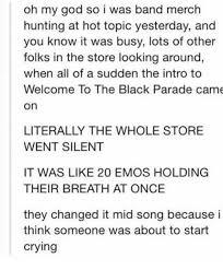 parade merchandise 25 best memes about the black parade the black parade memes