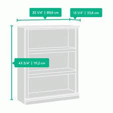 Sauder 3 Shelf Bookcase Sauder Select 3 Shelf Bookcase 412808 Sauder Sauder 3