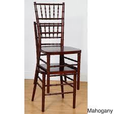 mahogany chiavari chair stackable ballroom chair set of 2 free shipping today