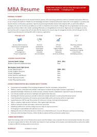 sample resume mba mba resume template 11 free samples examples