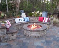 Backyard Ideas Patio by Patio Backyard Patio Design Ideas Grey Round Rustic Stone